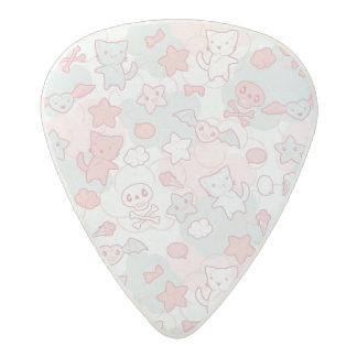 kawaii pattern with doodle acetal guitar pick