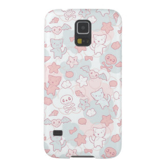 kawaii pattern with doodle galaxy s5 covers