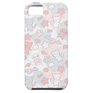 kawaii pattern with doodle iPhone 5 cases
