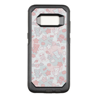 kawaii pattern with doodle OtterBox commuter samsung galaxy s8 case