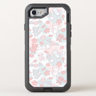 kawaii pattern with doodle OtterBox defender iPhone 8/7 case