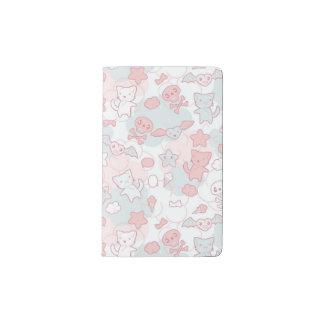 kawaii pattern with doodle pocket moleskine notebook