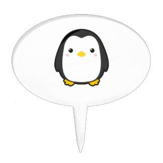 Kawaii Penguin Cake Picks