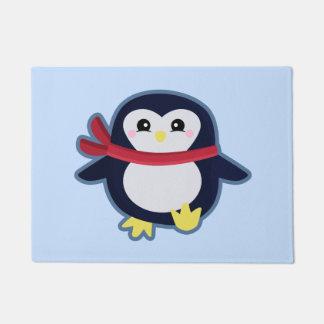 Kawaii penguin doormat