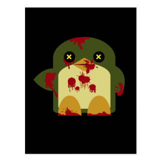 Kawaii Penguin Zombie Gruesome Horror Postcard