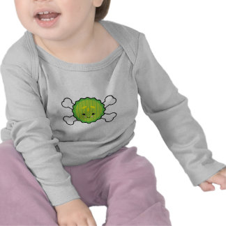 kawaii pickle slice and crossbones design t-shirt