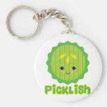 kawaii picklish pickle slice key chain