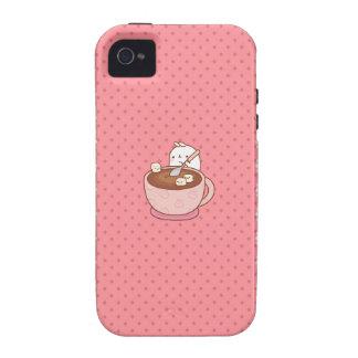 Kawaii Pink Bunny Coffee iPhone 4/4s case