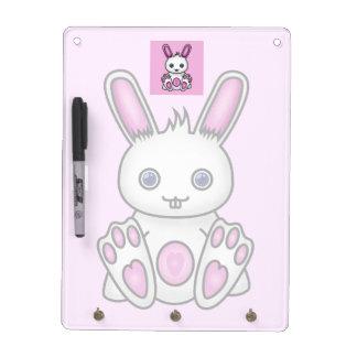 Kawaii Pink Bunny Dry Erase Board