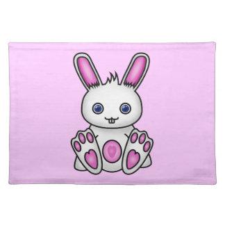 Kawaii Pink Bunny Placemat