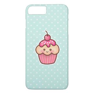 Kawaii Pink Cupcake and Cute Mint Blue Polka Dots iPhone 7 Plus Case