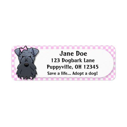 Kawaii Pink Gingham Kerry Blue Terrier