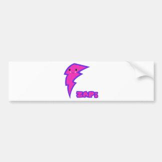 kawaii pink lightning bolt bumper stickers