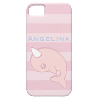 Kawaii Pink Narwhal iPhone 5 Covers