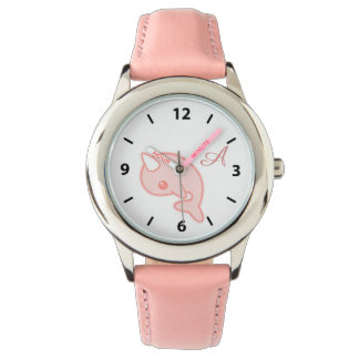 Kawaii Pink Narwhal Watch