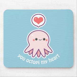 Kawaii Pink Octopus Mouse Mat