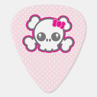 Kawaii Pink Ribbon Skull Guitar Picks Guitar Pick