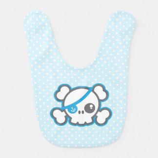 Kawaii Pirate Skull Baby Bib