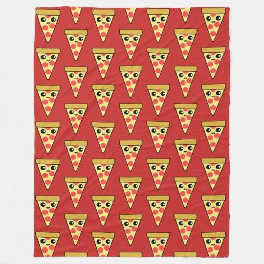 Kawaii Pizza Slice Red TP Fleece Blanket