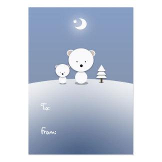 Kawaii Polar Bear Holiday Gift Tags Pack Of Chubby Business Cards