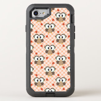 Kawaii Polka Dot Fall Owl OtterBox Defender iPhone 8/7 Case