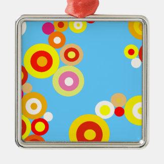 Kawaii Polka Dot pattern Silver-Colored Square Decoration