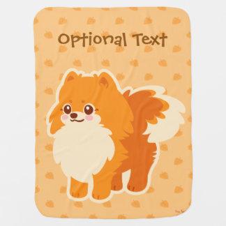 Kawaii Pomeranian Cartoon Dog Baby Blanket
