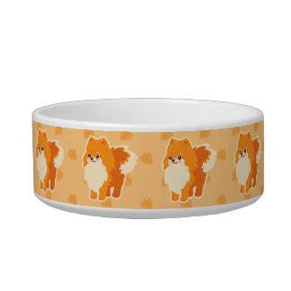 Kawaii Pomeranian Cartoon Dog Bowl