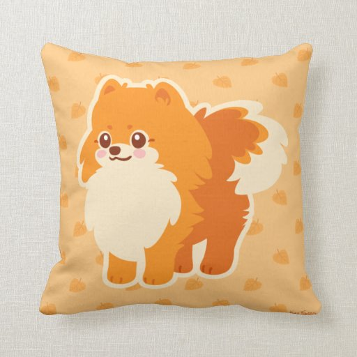 Kawaii Pomeranian Cartoon Dog Pillow
