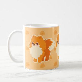 Kawaii Pomeranian Cartoon Dog Coffee Mug
