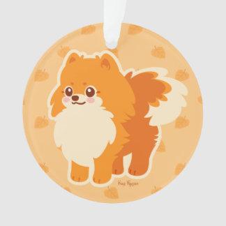 Kawaii Pomeranian Cartoon Dog Ornament