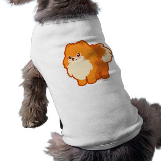 Kawaii Pomeranian Cartoon Dog Sleeveless Dog Shirt