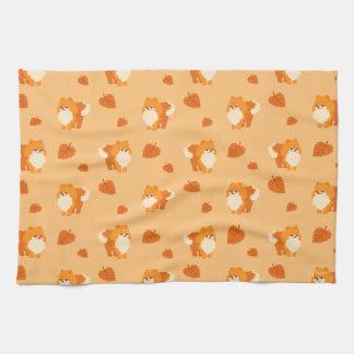 Kawaii Pomeranian Cartoon Dog Tea Towel
