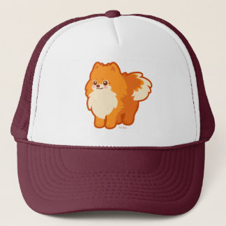 Kawaii Pomeranian Cartoon Dog Trucker Hat