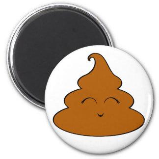 Kawaii Poo Poo 6 Cm Round Magnet