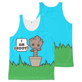 Kawaii Potted Groot All-Over Print Tank Top