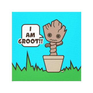 Kawaii Potted Groot Canvas Print