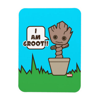 Kawaii Potted Groot Magnet