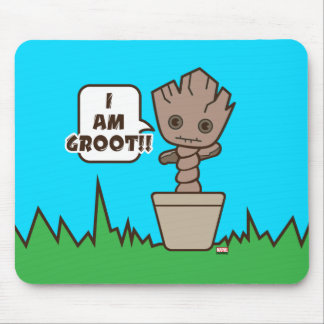 Kawaii Potted Groot Mouse Mat