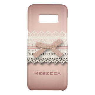 Kawaii princess girly chic white lace pink bow Case-Mate samsung galaxy s8 case