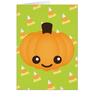 Kawaii Pumpkin Greeting Card