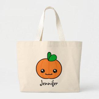 Kawaii Pumpkin Halloween Personalized Tote Bag