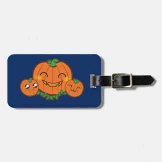 Kawaii pumpkin luggage tag