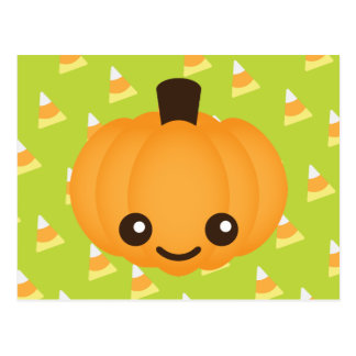 Kawaii Pumpkin Postcard