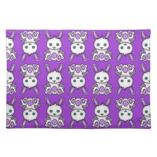 Kawaii Purple Bunny Pattern Placemat