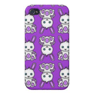Kawaii Purple Bunny Pern iPhone 4/4S Cover