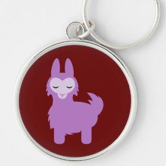 Kawaii Purple Llama Key Ring