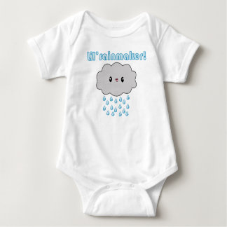 Kawaii Rain Cloud Lil Rainmaker (blue version)! Baby Bodysuit
