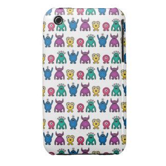 Kawaii Rainbow Alien Monsters Pattern iPhone 3 Case