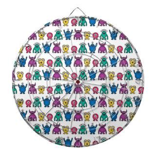 Kawaii Rainbow Alien Monsters Pattern Dartboard